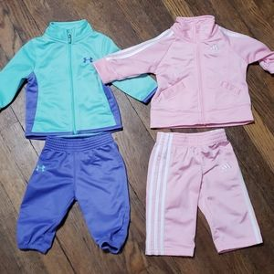 2 Baby Girl Jumpsuits